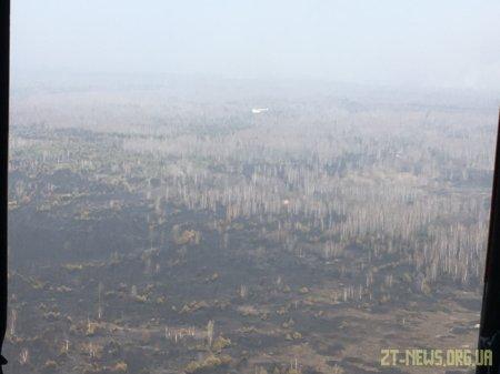 Триває гасіння лісової пожежі в Народицькому районі