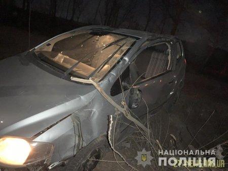 У Коростені Volkswagen вилетів з дороги і в'їхав у дерево: троє пасажирів травмовані