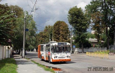 Через ремонт Великої Бердичівської тимчасово відмінено 2 тролейбусні маршрути