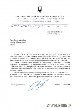 Уряд виділив 25 млн грн на ліквідацію наслідків пожеж в Овруцькому районі