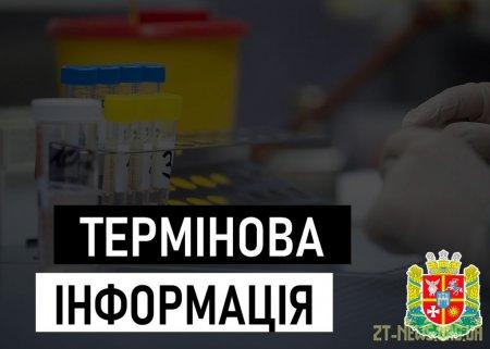 На Житомирщині за добу зафіксовано 5 нових випадків захворювання на коронавірус