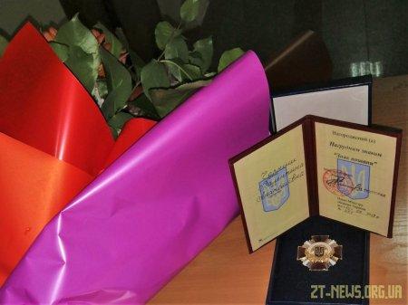Мати загиблого Героя отримала відзнаку «Знак пошани» та подяку Міністерства оборони України