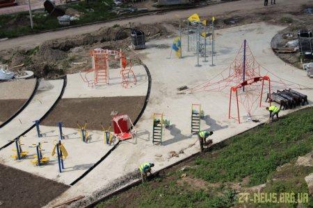 Тривають роботи з реконструкції набережної річки Тетерів