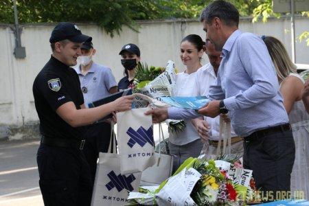 Поліцейських Житомира привітали із першим ювілеєм