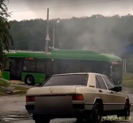 У Житомирі задимівся нещодавно придбаний тролейбус