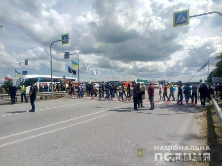 Поблизу Житомира люди перекривали трасу Київ - Чоп