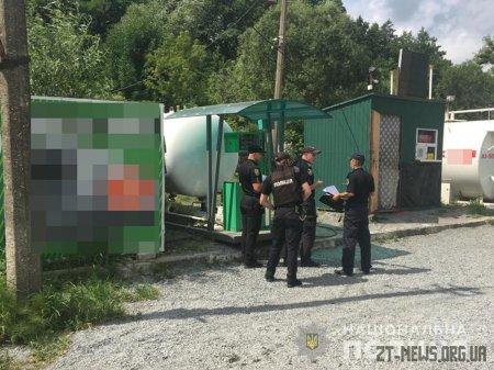 На Житомирщині правоохоронці зафіксували порушення на двох автозаправках
