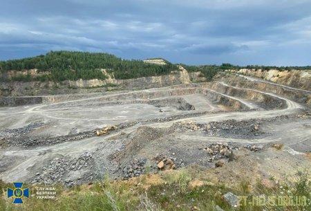 На Житомирщині СБУ задокументувала нелегальний видобуток граніту на 12,5 мільйонів гривень
