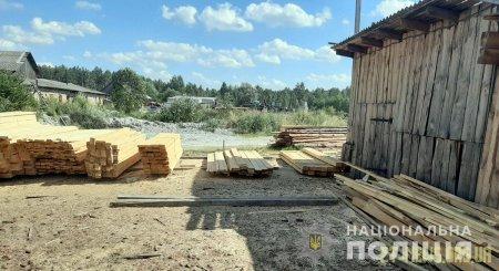 Неподалік Коростишева поліцейські закрили підпільну пилораму по переробці необлікованого лісу