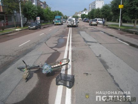 У Бердичеві під колеса легковика потрапив велосипедист