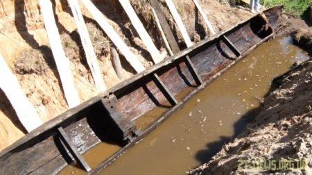 На Олевщині знайшли древлянський човен-довбанку