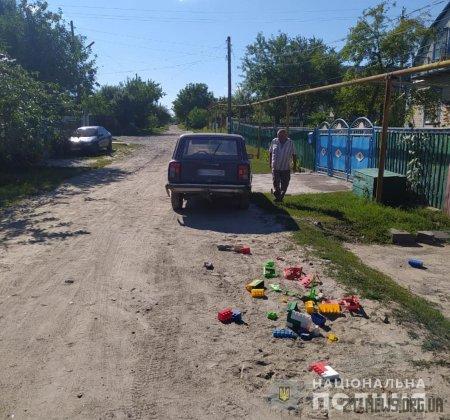 У Коростишеві нетверезий водій наїхав на двох дітей