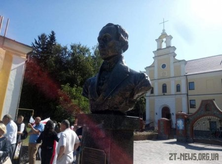 У Чуднові відкрили пам'ятник письменнику та громадському діячу Яну Барщевському