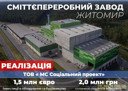 Компанія-інвестор отримала дозвіл на будівництво сміттєпереробного заводу в Житомирі
