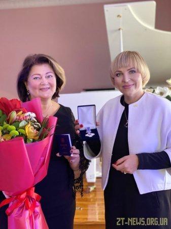 Директорку музичної школи імені Ріхтера нагородили відзнакою «За заслуги перед містом Житомиром» III ступеня