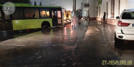 У Житомирі приміський автобус врізався в бетонну опору