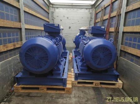 КП «Житомирводоканал» отримало 4 насосні агрегати для головної каналізаційної станції міста