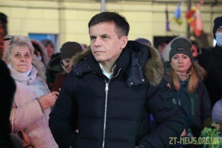 В день Святого Миколая урочисто відкрили живу ялинку на Михайлівській
