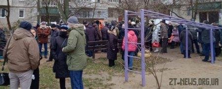 У Житомирі жителі протестують проти будівництва на місці колишнього стадіону у дворі