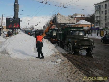 У Житомирі перекриватимуть окремі вулиці, аби прибрати від снігу
