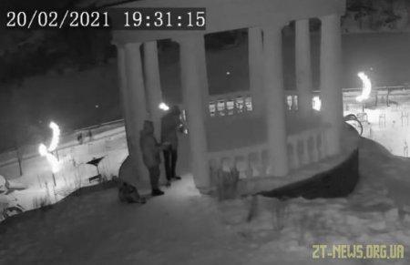 У Житомирі невідомі пофарбували альтанку, яка нещодавно постраждала від рук вандалів