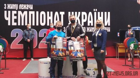 Четверо спортсменів Житомирщини вибороли 6 медалей на чемпіонаті України з пауерліфтингу