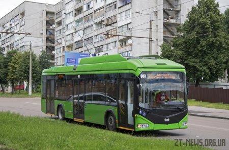 50 нових тролейбусів вже працюють на маршрутах Житомира