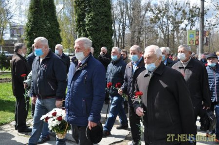 У Житомирі вшанували пам'ять загиблих ліквідаторів аварії на Чорнобильській АЕС