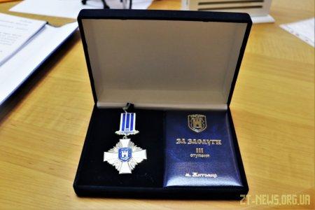 Волонтер Яков Прокопчук отримав відзнаку «За заслуги перед містом Житомиром III ступеня»