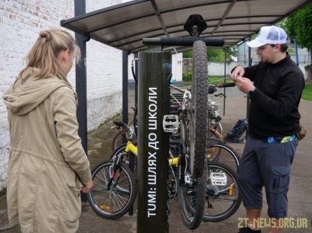 Першу станцію з технічного самообслуговування велосипедів відкрили у Житомирі