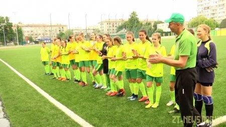 """Футбольна команда дівчат житомирського """"Полісся"""" поступилася команді з Тернопільської області"""