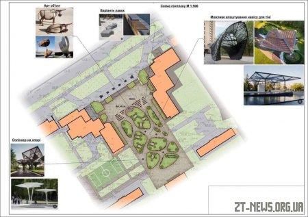 На території Мистецьких Воріт облаштують сучасний сквер