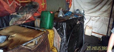 На Житомирщині гараж перетворили на підпільну заправку