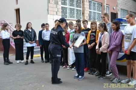 Поліцейські охорони відзначили переможців конкурсу дитячих малюнків